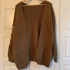 Sweaters - Open front cable knit sweater